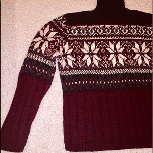Wool Burgundy crew neck Sweater Size 10